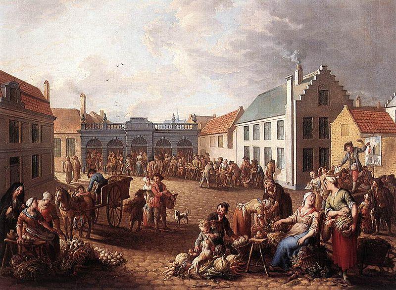 800px-Jan_Antoon_Garemijn_-_The_Pandreitje_in_Bruges_-_WGA08468